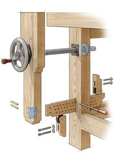 homemade leg vise – Google Search #woodworkingbench