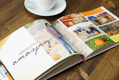 How to Make a Photo Book + 8 Ideas and Themes - Album - Livre Make A Photo Book, Baby Photo Books, Baby Books, Book Design Layout, Album Design, Photo Book Design, Travel Book Layout, Album Digital, Family Yearbook