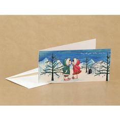 Kerstkaart met illustratie van Illu-Straver. Kerst Eskimo's.