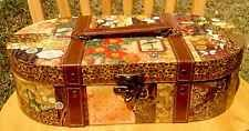 Small Safari Train Case Suitcase Keepsake Storage Box Floral Collectible New