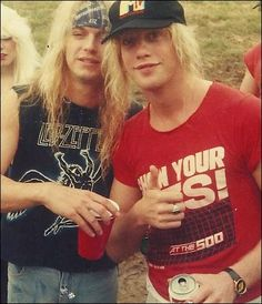 Bret Michaels and Jani Lane