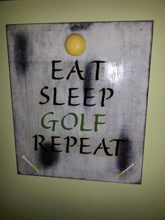 I made this for my golf enthusiast father last Christmas.