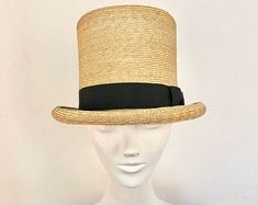 Straw Top Hat with Turquoise Ribbon Trim Black Tie Affair, Straw Hats, Fedora Hat, Hats For Men, Grosgrain Ribbon, Sale Items, Turquoise, Clothing, Top