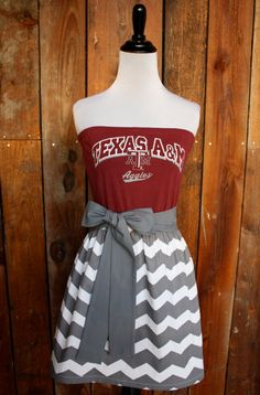 Texas A&M Aggies Strapless Game Day Dress - Pinned by SECfootball101.com