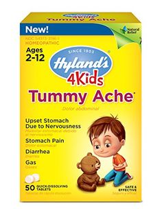 Hyland's 4 Kids Tummy Ache Tablets, Natural Relief of Upset Stomach, Diarrhea and Gas for Kids, 50 Count Temporarily relieves minor abdominal and stomach pain, Stop Diarrhea, Asthma Remedies, Asthma Symptoms, Avocado Smoothie, Asthma Relief, Gas Relief, Questionnaire, Home Remedies, Tips