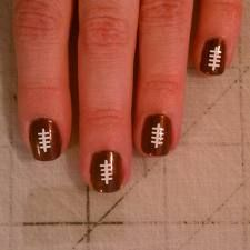 Very cute Football Nails - good idea for football season
