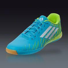 adidas Freefootball SpeedTrick - Samba Blue/Running White/Solar Slime  Indoor Soccer Shoes