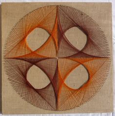 String art from the 70s Quartered Circle by MyGrandmothersLinens