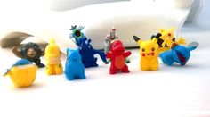 POKEMON 12 Piece Figures Play Set PIKACHU Red Charmander Cake Party Favor #P3 #Unbranded