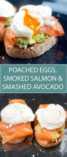 Poached Eggs, Smoked Salmon and Smashed Avocado Breakfast or lunch. You can't beat poached eggs, smoked salmon & smashed avocado. Tasty & very healthy. Smoked Salmon Recipes, Avocado Recipes, Healthy Recipes, Avocado Ideas, Keto Avocado, Avocado Salad, Egg Salad, Avocado Guacamole, Salmon Avocado