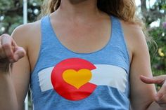 Image of Colorado Love Tanks- Women's Athletic Blue