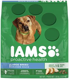 Large breed dogs deserve a great-tasting formula that's tailored to their specific nutritional needs. That's why IAMS PROACTIVE HEALTH Adult Large Breed Dry Dog Food is formulated with naturally sourc...