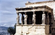 For 2,500 years, the six statues flanked the columns of the Erechtheion Temple on the Acropolis. Hadrian and Antinous saw them in Athens during their journeys together.  One was taken to the British Museum in the early 19th Century. The other five were moved to the Acropolis Museum in the 1970s for protection against the air pollution and acid rain.