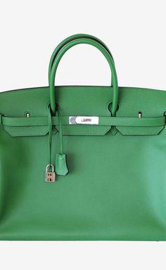 Hermes Hermes Birkin 40 Bag Bengale Epsom Leather Palladium Tote