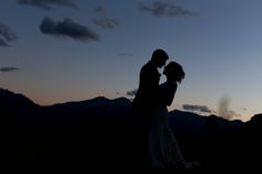 Silhouette-Rockys Mathew & Ariel Irving Denver Wedding Photographers