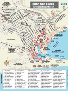 Maps Los Cabos Guide Cabo San Lucas Pinterest Maps