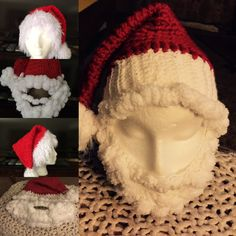 Santa hat with beard for any age $25.00-up