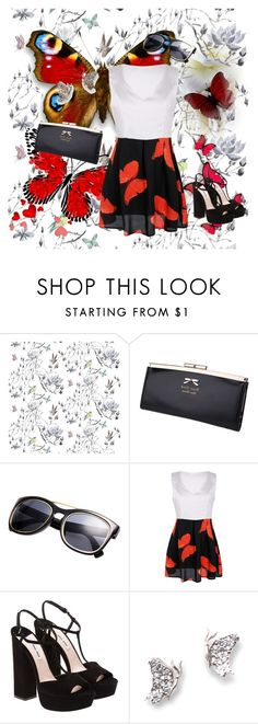 """""""butterfly"""" by sarahguo ❤ liked on Polyvore featuring Miu Miu and J. Herwitt"""