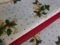 Poťahová látka - hrubá, s vianočným motívom