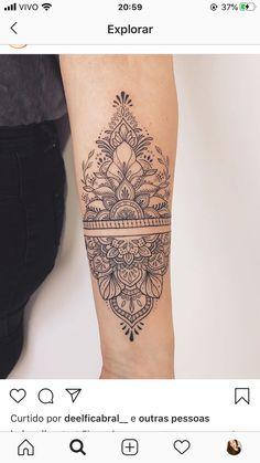 Henna Arm Tattoo, Forearm Mandala Tattoo, Mandala Tattoo Design, Calf Tattoo, Henna Tattoo Designs Arm, Ankle Tattoos For Women Mandala, Wrist Tattoos For Women, Around Arm Tattoo, Elbow Tattoos