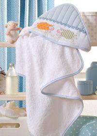 Anchor Bebé de punto de cruz con Motivos - Aplicado a Una toalla de bebe