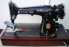 Singer-201-2-Direct-drive-sewing-machine-bentwood-case-Egyptian-scroll-ca-1940 on Ebay