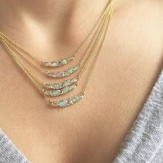 A morning filled with the sweetest emails and studio visits from the sweetest friends calls for an afternoon filled with layers and layers of the sweetest Journey Treasure Mermaid Necklaces! #misajewelry by misajewelry