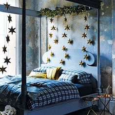 Discover bedroom design ideas on HOUSE - design, food and travel by House & Garden including this floral themed room featuring a half-tester canopy bed