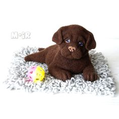 Hand Clothes Puppy Labrador felted toy