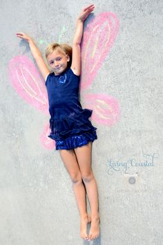 Kids Photography, Chalk Photos, Kids Butterfly Photos
