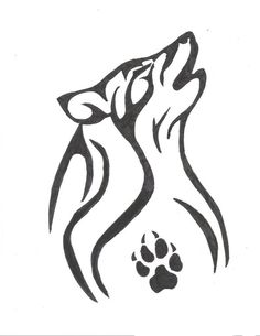 Cool Wolf Tattoo. I always thought it would be cool to have this on my shoulder.