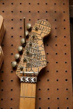 michael landau guitar | Original headstock from Michael Landau's Coma Guitar | Flickr - Photo ...