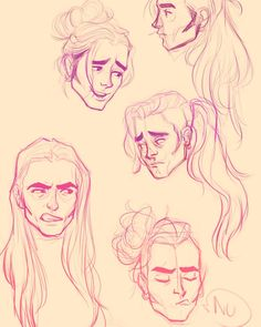 """Finished another commission woo so I'm sketching some Olly  in different hairstyles for tumblr<3 #artistoninstagram #art #illustrator #illustration…"""