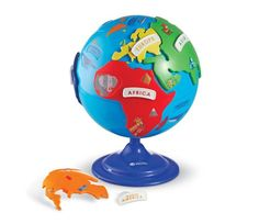 Learning Resources Puzzle Globe, Geography Puzzle, Fine Motor, 14 Pieces, Ages in Geographic Globes. Learning Toys, Learning Resources, Early Learning, Teaching Tools, Teaching Ideas, Spinning Globe, 3 D, Geography Games, Best Educational Toys