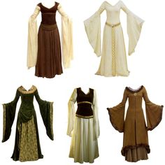 Lord of the Rings costumes Renaissance Clothing, Medieval Fashion, Medieval Costume, Medieval Dress, Fantasy Costumes, Cosplay Costumes, Fantasy Dress, Historical Costume, Costume Design