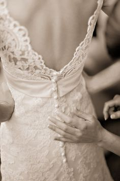 The back of this gown is gorgeous!