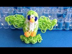 Rainbow Loom BIRD 3D Charm. Designed and loomed by DIYMommy. Click photo for YouTube tutorial. 06/20/14.