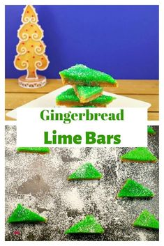 Gingerbread Lime Bars - Food Meanderings : Gingerbread lime bars are a fun and festive addition to your holiday baking tray and a nice change from lemon bars. Holiday Baking, Christmas Baking, Christmas Food Gifts, Christmas Sweets, Christmas Cookies, Canadian Food, Edible Gifts, Christmas Breakfast, Lemon Bars