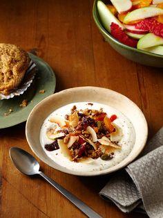 Eggnog Yogurt With Granola from FoodNetwork.com