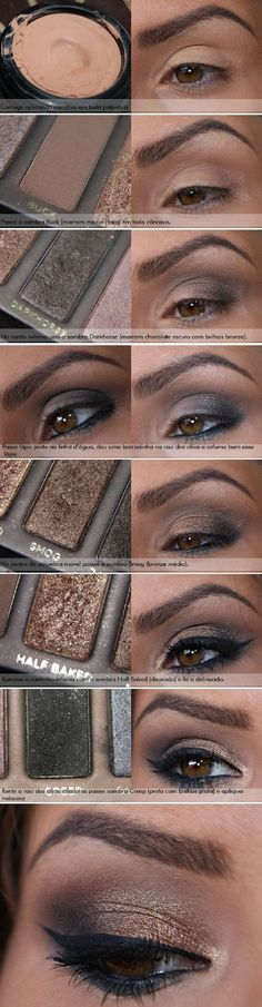 Naked 1 has to be one of my fav palettes. 10 Brown Eyeshadow Tutorials for Seductive Eyes - Beauty Bets Siga/ Follow>>>> https://www.pinterest.com/paraguaiooh/ https://www.facebook.com/paraguaiooh http://caixadepresente.tumblr.com/ https://twitter.com/?lang=pt