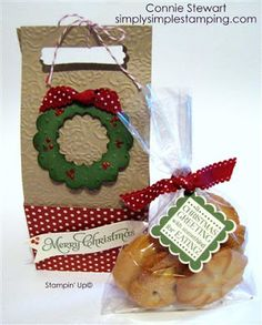 SIMPLY SIMPLE STAMPING with Connie Stewart - Scallop Envelope Cookie Box