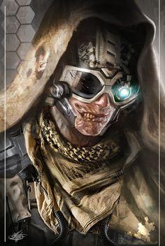 Cyborg zombie soldier by mlappas.deviantart.com on @deviantART