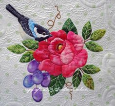 little bird by Sandra Leichner - love her applique