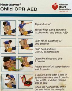 Child CPR Card by American Heart Association Toddler Cpr, Cpr Card, First Aid Cpr, Cpr Training, American Heart Association, Emergency Medicine, Nursing Tips, Heart For Kids, Nursing Students