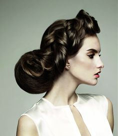 Long Brown Hairstyle from The Bridal Collection by Sherri Jessee