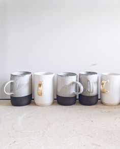 "bella-illusione: "" arrowandsage: "" My big, shiny, beautiful new kiln is up and firing like a boss.  I can't even. Cannot. // Chugging along on this Monday. "" I love these mugs! I want them. """