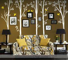 Spring Tree With Birds Wall Sticker
