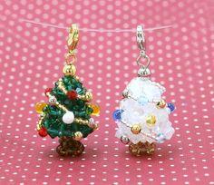 Homemade Pendant � Beaded Christmas Tree