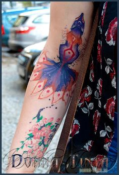 Watercolor Squid by www.donna-tinta.de