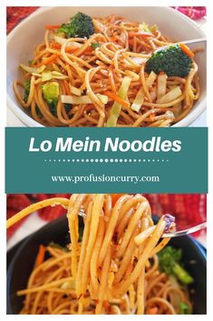 Make delicious Chinese Lo Mein Noodles using InstantPot. Sin Gluten, Gluten Free, Easy Lo Mein Noodles, Asian Noodles, Real Food Recipes, Vegan Recipes, Vegan Meals, Yummy Recipes, Vegan Lo Mein